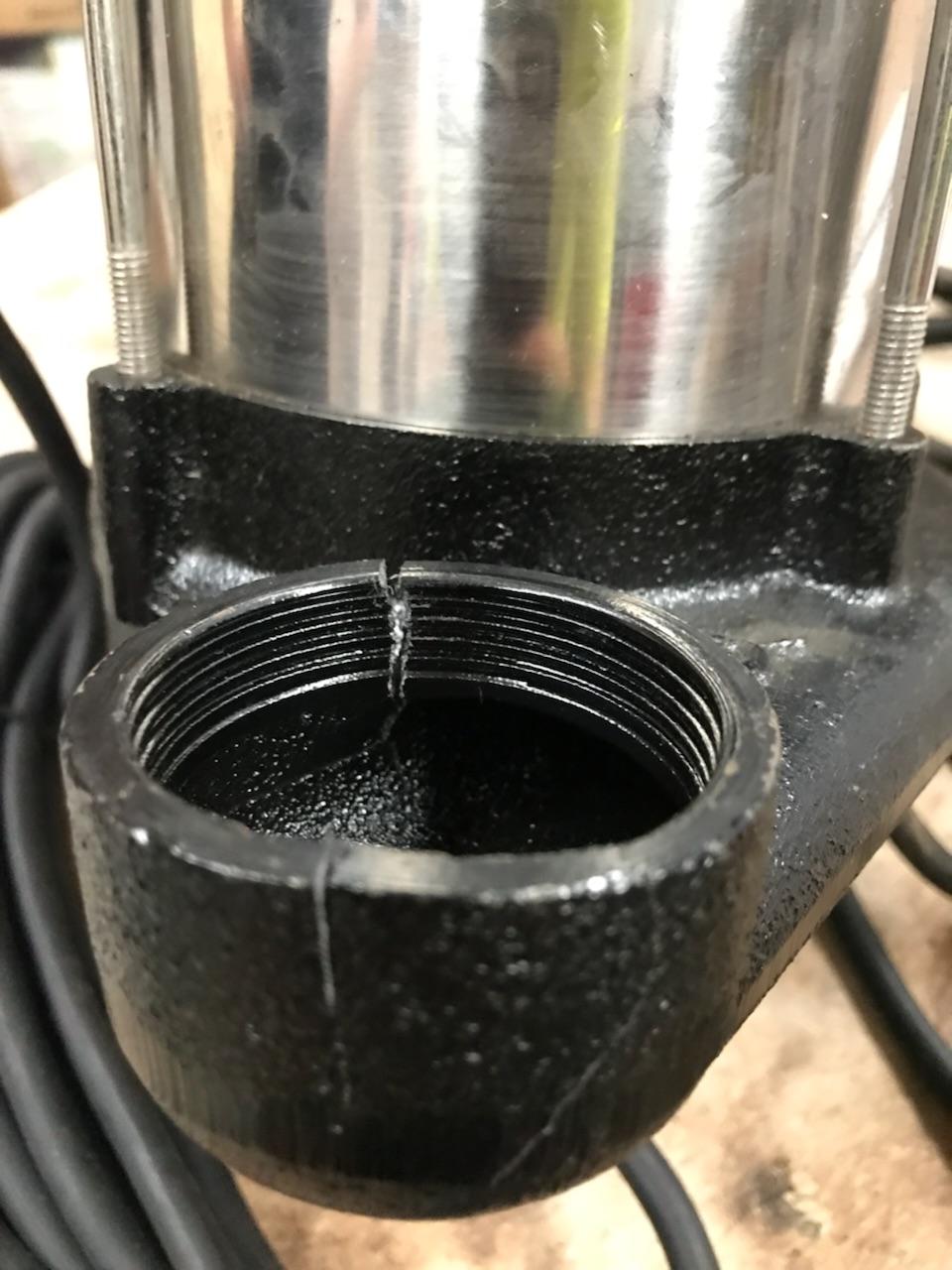 Cracked pump