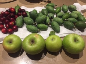 Feijoa - crumble ingredients