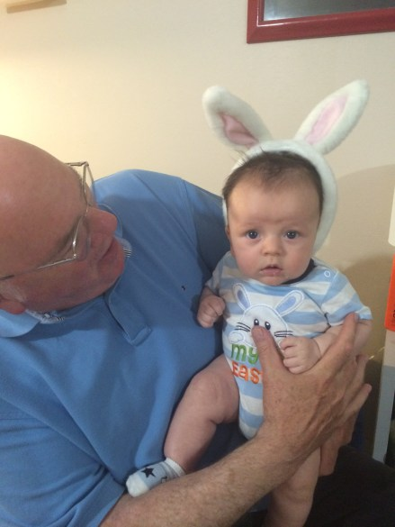 Easter with grampa!