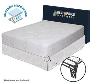 Memory Foam Mattress + Bed frame Set - No box spring needed - King