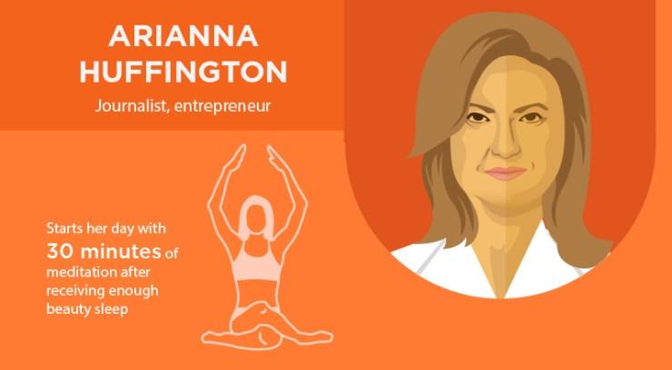 Arianna Huffington Morning Routine