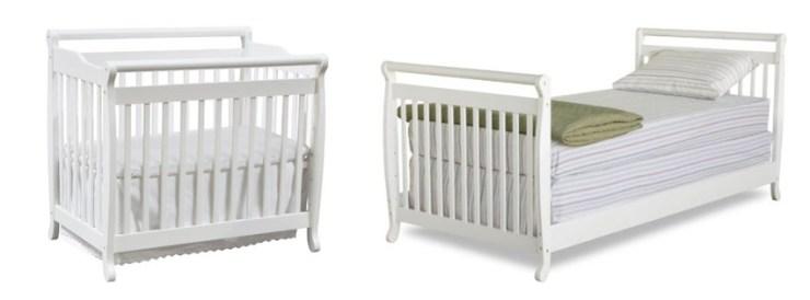 DaVinchi Emily Mini White Baby Crib