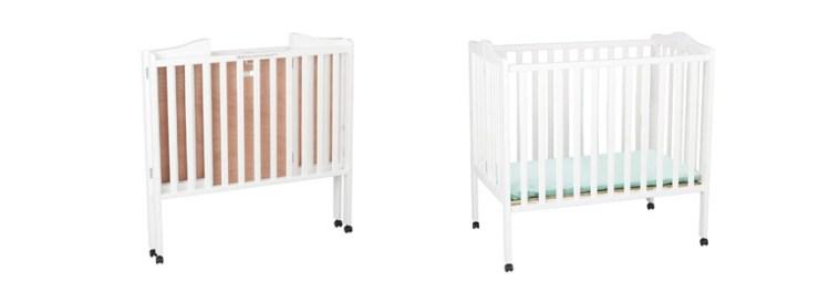 Delta Children Portable Mini White Crib