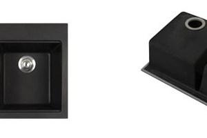 Kraus KGD-433B 33.5 inch Dual Mount Double Bowl Black Onyx Granite Kitchen Sink