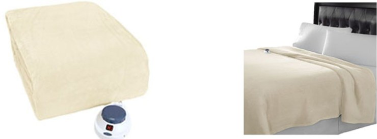 Serta Luxe Plush Low Voltage Electric Heated Micro Fleece Blanket