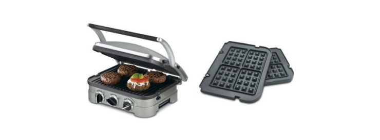 Cuisinart GR N in Griddler and Waffle Plates Bundle