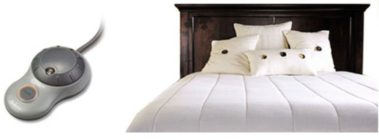 Sunbeam Quilted Polyester Heated Mattress Pad