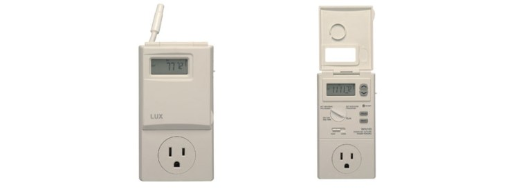 Lux WIN Heating Cooling Programmable Outlet Thermostat