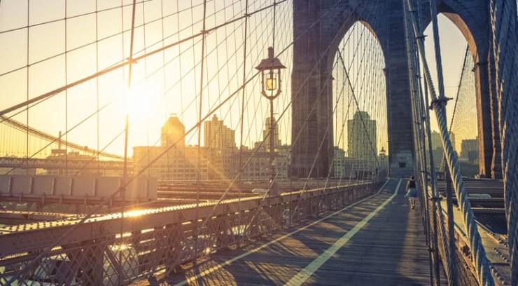 Brooklyn Bridge Sunset USA