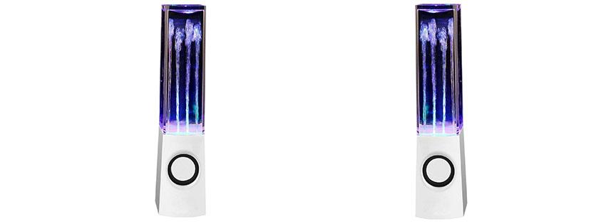 DIY YOUR WORLD Water Speakers White USB Powered Dancing Box Speaker -