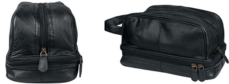 Dwellbee Classic Leather Toiletry Bag