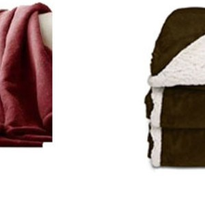 Holmes Oversized Reversible Heated Throw-Garnet