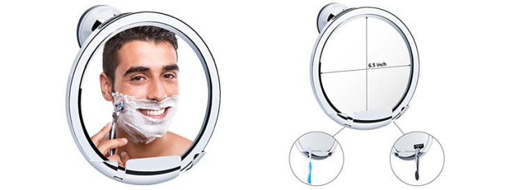 KEDSUM Fogless Shaving Mirror with Razor Holder