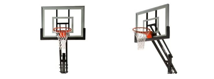 Pro Dunk Silver Adjustable Basketball Goal Hoop System