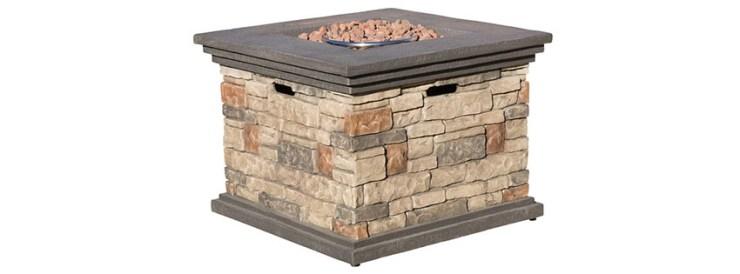 Crawford Outdoor Square Liquid Propane Fire Pit