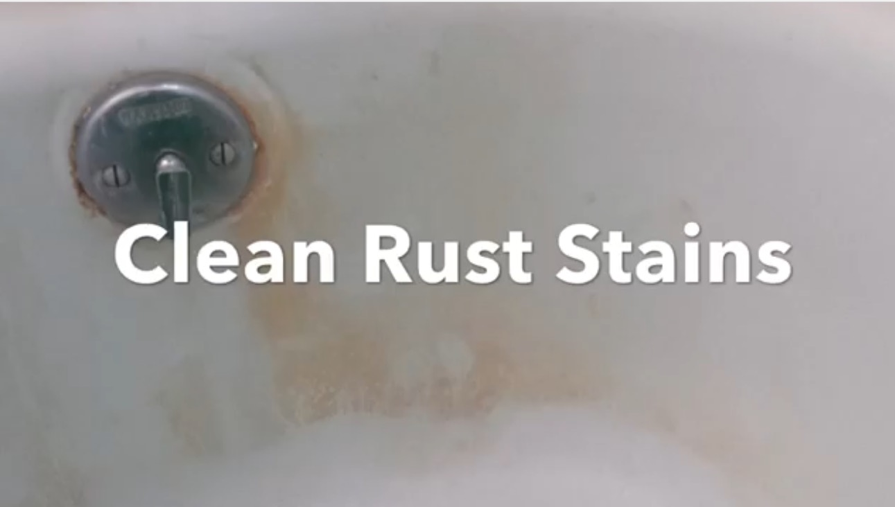 How To Clean A Bathtub Remove Rust And Hard Water Stains