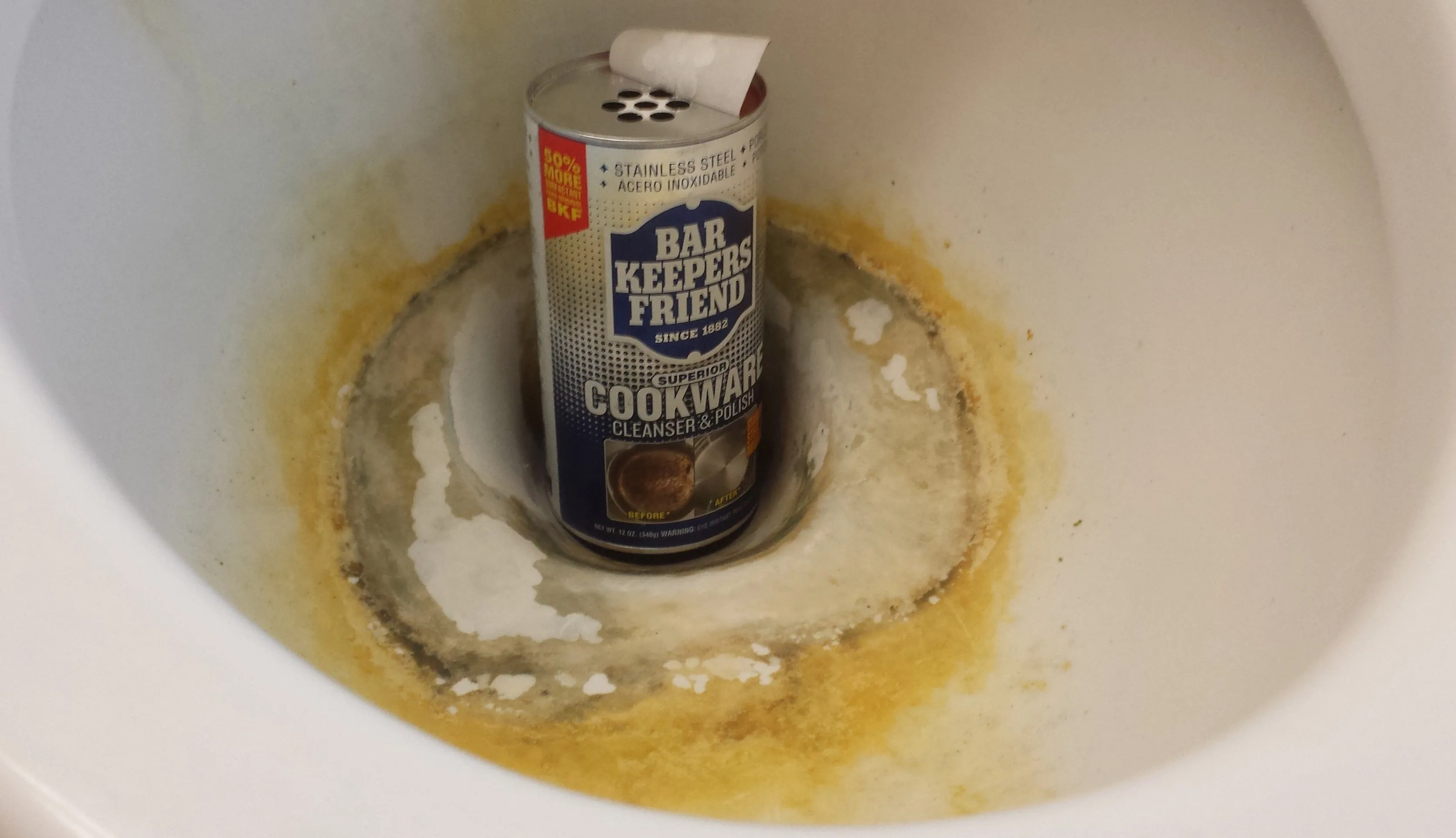 How To Clean Hard Water Stains And Rust From A Toilet Bowl, Bar