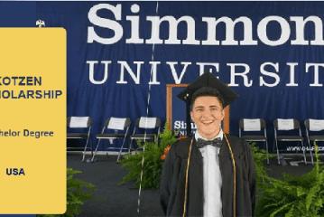 Study in USA : Kotzen Scholarships Program 2020/2021 for Undergraduate Students to study at Simmons University (USA). Deadline :1st December 2019