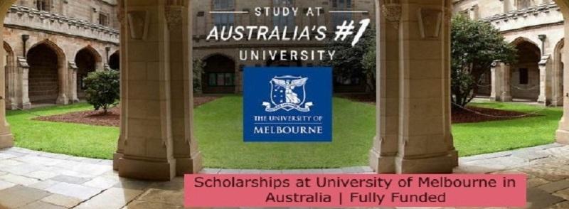 Scholarships at University of Melbourne in Australia | Fully Funded: (Deadline 31 October 2021)
