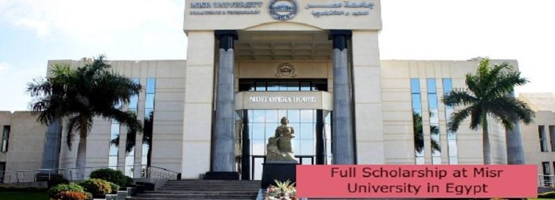 Full Scholarship at Misr University in Egypt: (Deadline 31 July 2021)
