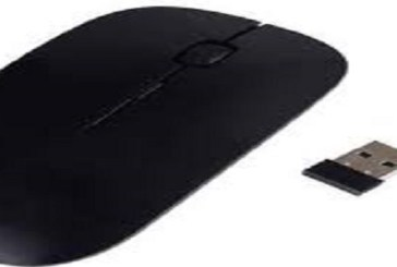 Wireless Mouse 2.4GHZ High Sensitivity Mouse with Mini USB Interface (BLACK)