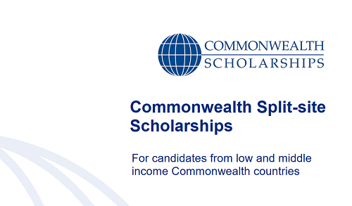 PHD COMMONWEALTH SPLIT-SITE SCHOLARSHIPS (FOR LOW AND MIDDLE INCOME COUNTRIES)  (Deadline: 13 August 2021)