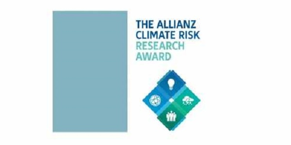 Allianz Climate Risk Research Award 2021 for young Scientists (monetary award  and funded trip to Munich, Germany)(Deadline: 15 September 2021)