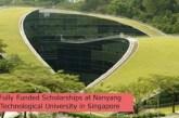 Fully Funded Scholarships at Nanyang Technological University in Singapore: (Deadline 1 December 2021)
