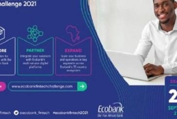 Ecobank Fintech Challenge 2021 for Startups: (Deadline 20 September 2021)