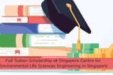 Full Tuition Scholarship at Singapore Centre for Environmental Life Sciences Engineering in Singapore: (Deadline 15 December2021)