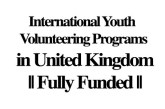 International Youth Volunteering Programs in United Kingdom || Fully Funded: (Deadline Ongoing)