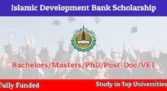 2022-2023 Islamic Development Bank Scholarship – Fully Funded: (Deadline 20 February 2021)