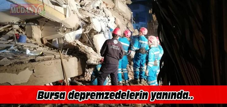 Bursa depremzedelerin yanında