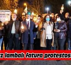 Gaz lambalı protesto!