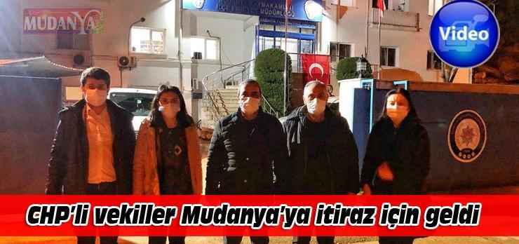 CHP'li vekiller, afiş kararına itiraz için geldiği Mudanya'da muhatap bulamadı!