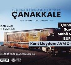 Çanakkale Mobil Müze Tırı, yeniden Bursa'da