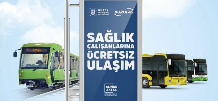 Bursa Büyükşehir, sağlık çalışanlarına ulaşım desteğini uzattı