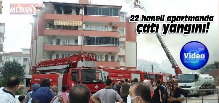 Mudanya'da çatı yangını, üç haneye sıçradı!