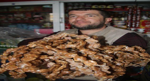 Mardin'in cevizli sucukları Avrupa'nın gözde tatlısı