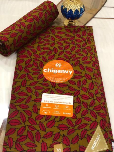 Chiganvy Fabrics Ankara Material 100% Cotton Size 6 Yards (5.49 Meters)