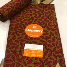 Chiganvy Fabrics Ankara Material 100% Cotton Size 6 Yards (5.49 Meters)
