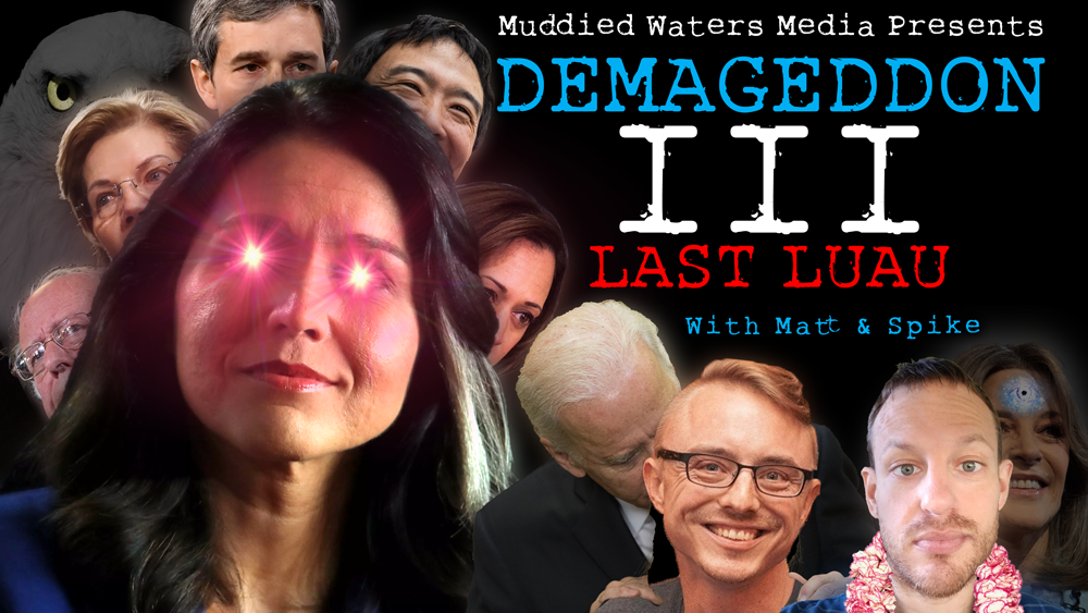 Tulsi Gabbard tries to continue Marianne Williamson's fight against the dark psychic force of collectivized hatred. Will she succeed? Absolutely not. Join Matt and Spike as they live-react to this guaranteed dumpster fire in the making. It's like Mystery Science Theater 3000 if all the monsters could actually harm you.