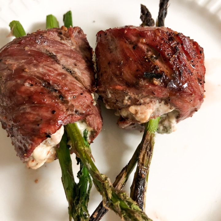 Steak, Blue Cheese, and Asparagus Roll-Ups