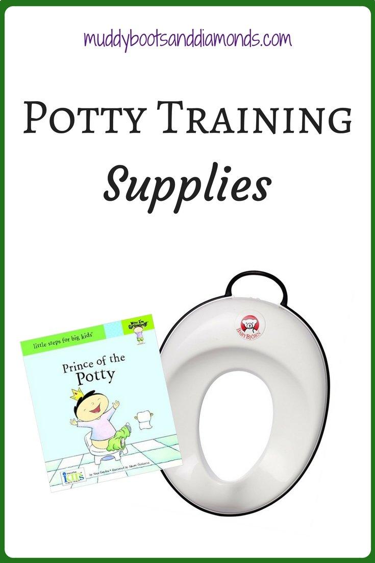 A list of potty training supplies to make potty time less stressful   Potty Training Supplies via muddybootsanddiamonds.com