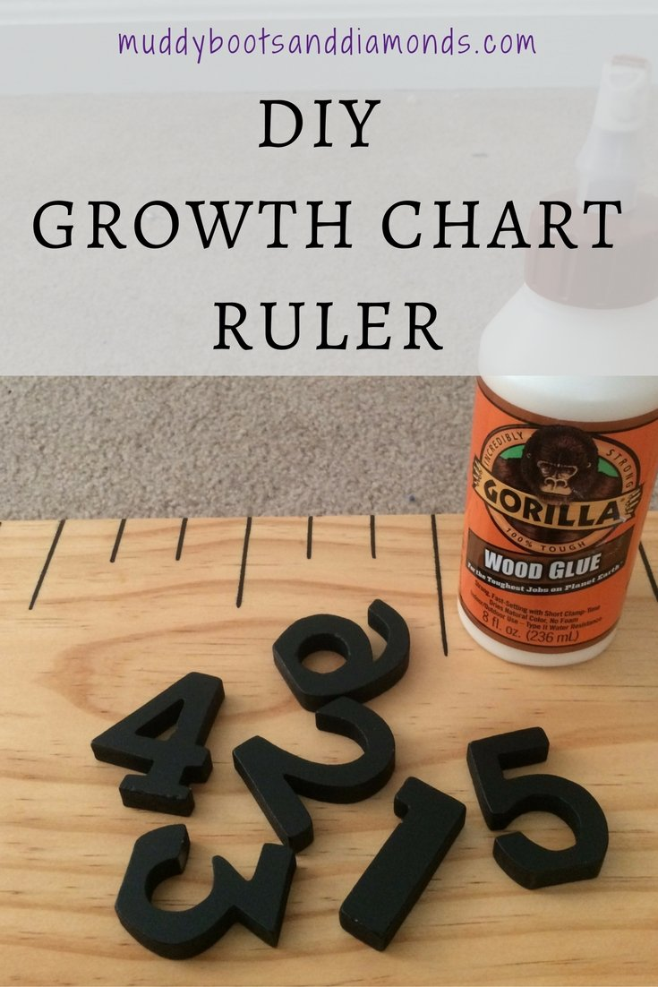DIY Growth Chart Ruler via www.muddybootsanddiamonds.com