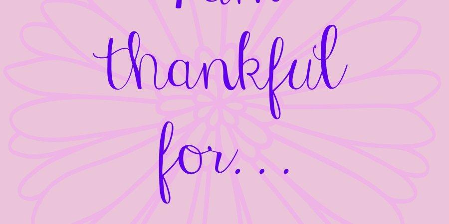 Thankful Thursday November Challenge