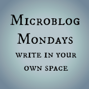Microblog Mondays Write in your own space graphic
