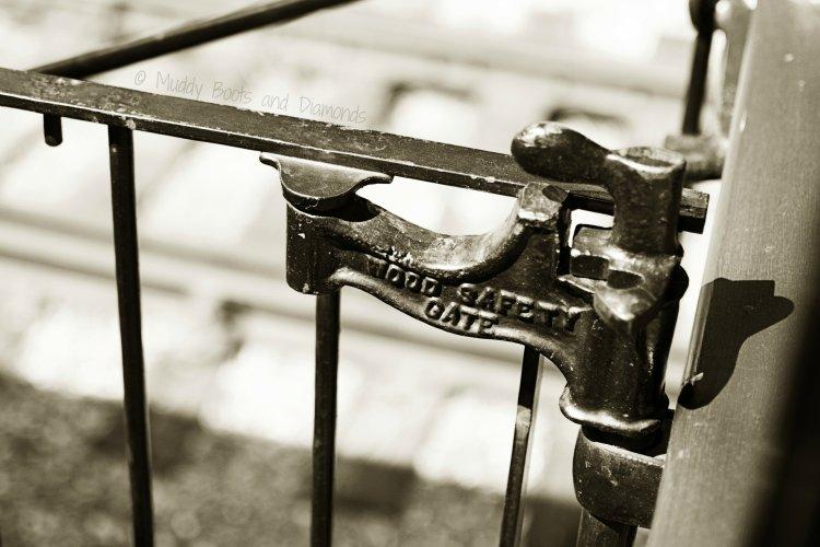 1900s Rail Car Safety Gate handle via muddybootsanddiamonds.com