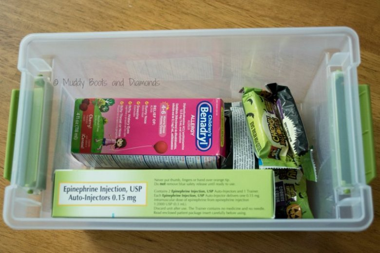 Sending your child to preschool with a Food Allergy Kit via muddybootsanddiamonds.com