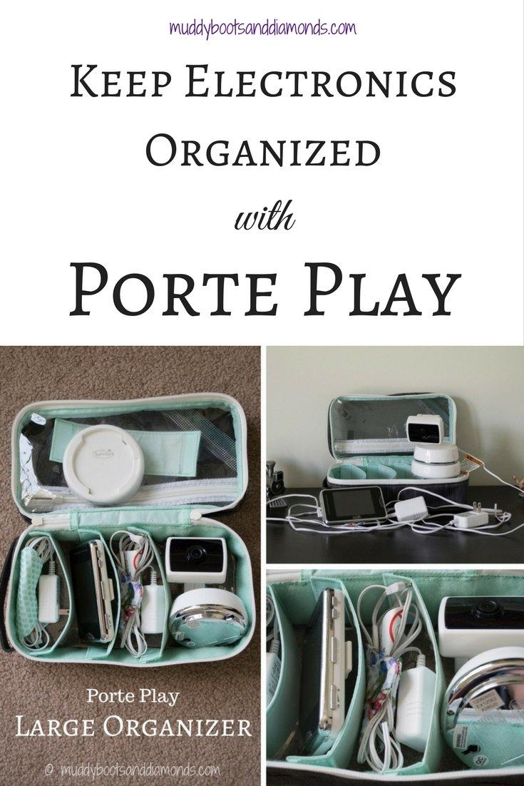 Organize Your Electronics with Porte Play organizers   Porte Play Review via muddybootsanddiamonds.com #organization #parenting #travel